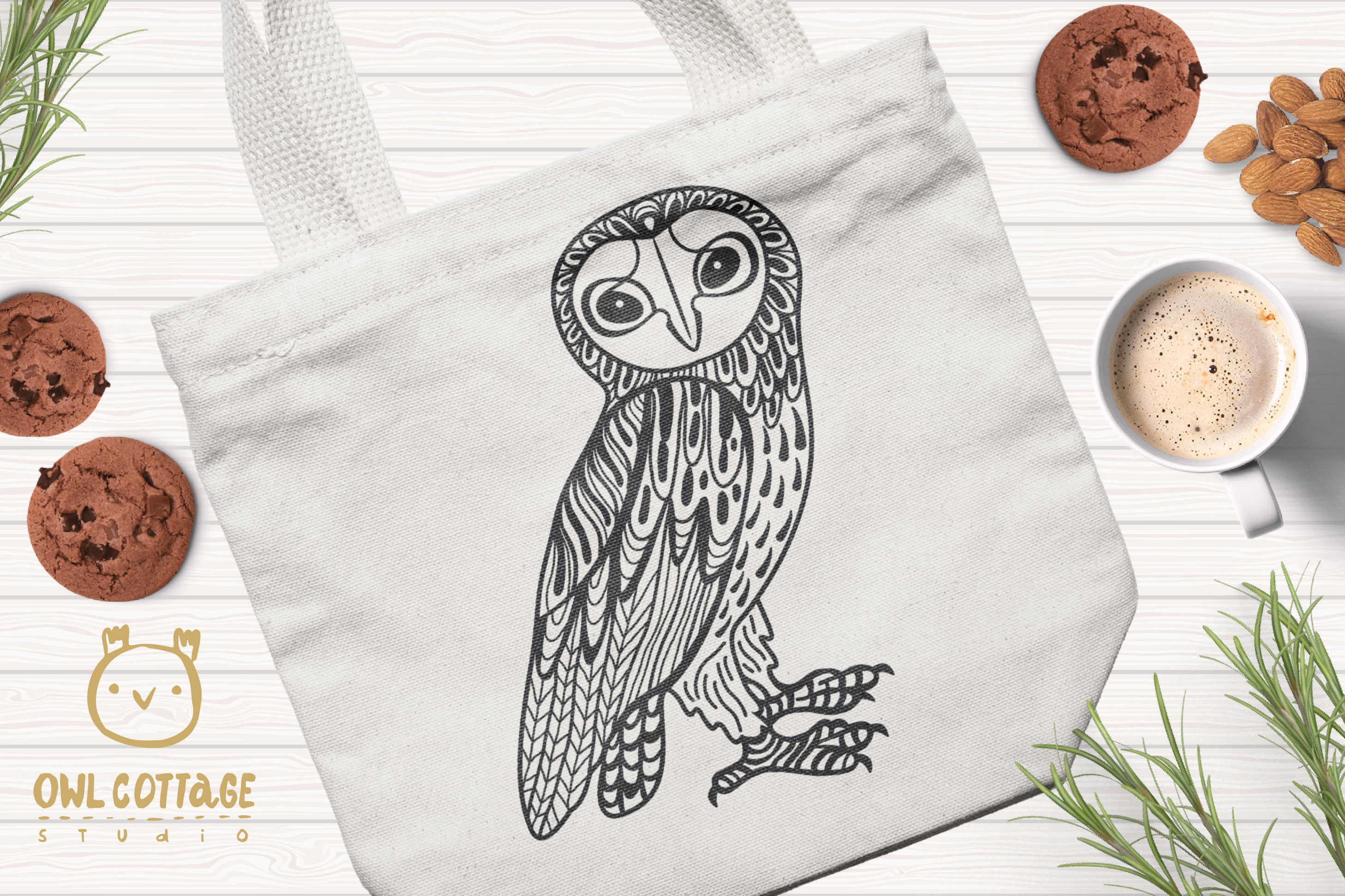 Barn Owl SVG, Forest Bird Decor Cut File example image 2