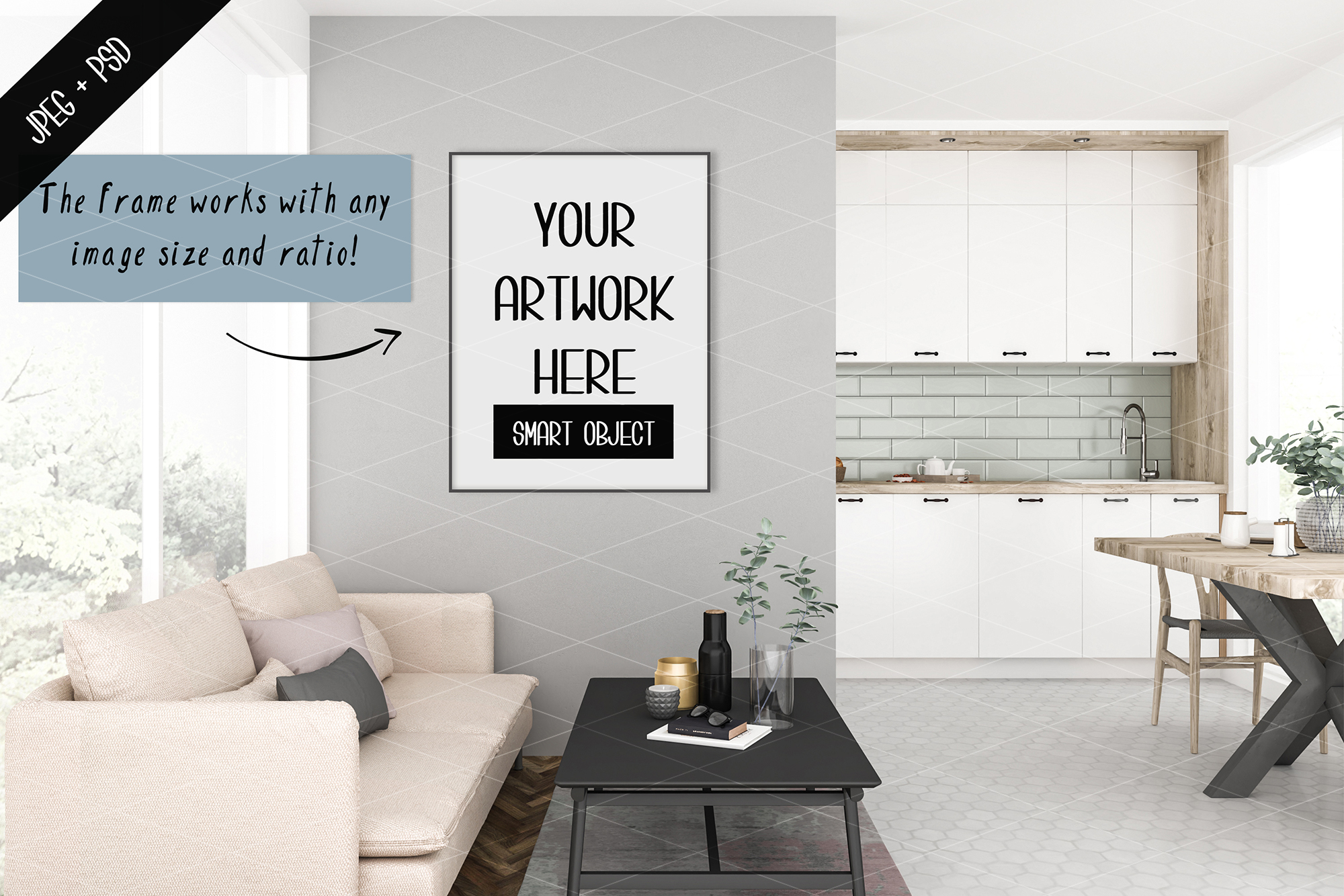 Frame mockup creator - All image size - Interior mockup example image 2