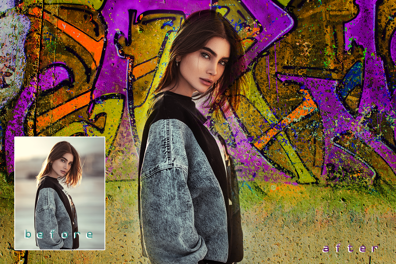 30 Urban grunge walls overlays graffity textures photo vol3 example image 3