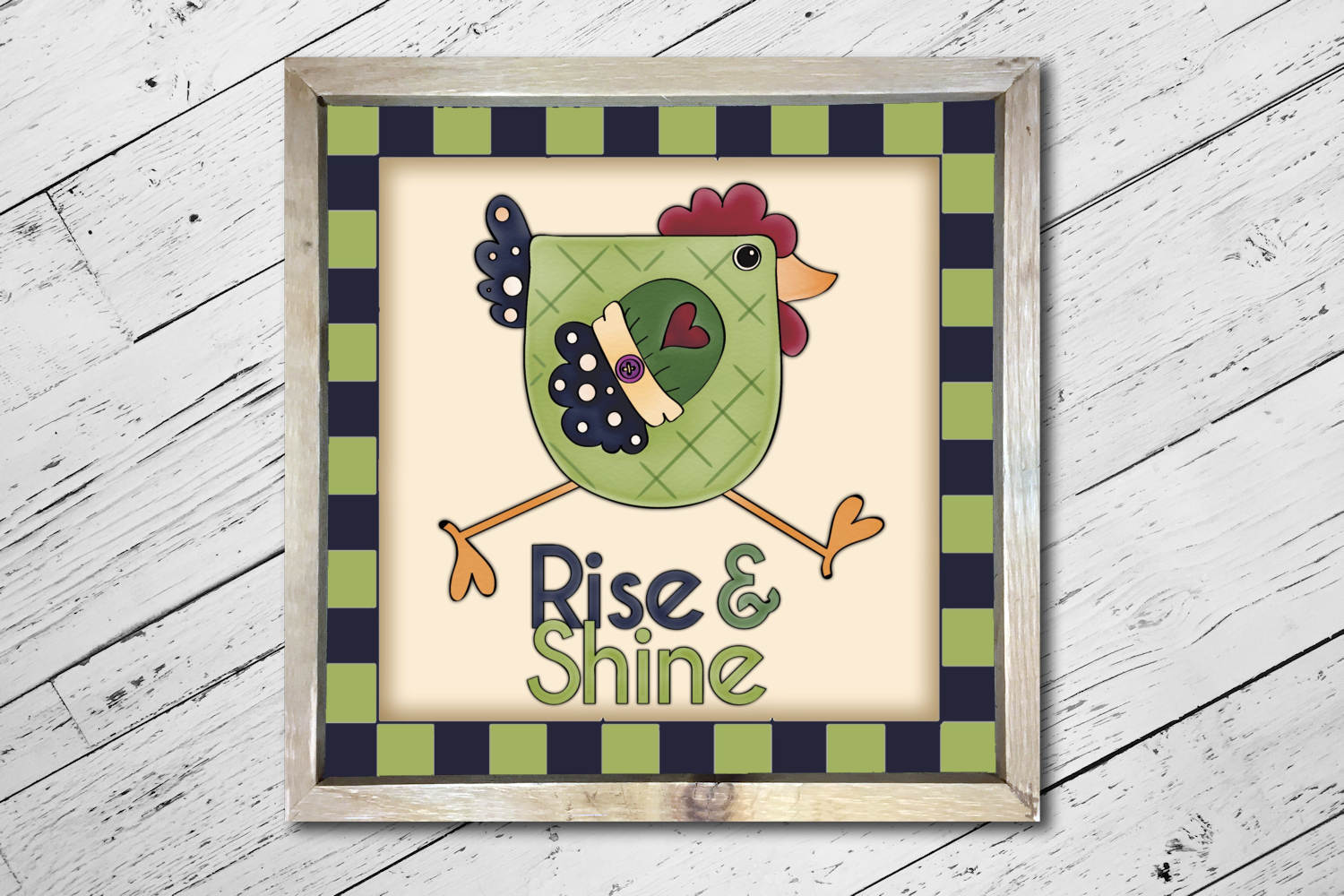 Rise and Shine Chicken Square Print example image 3