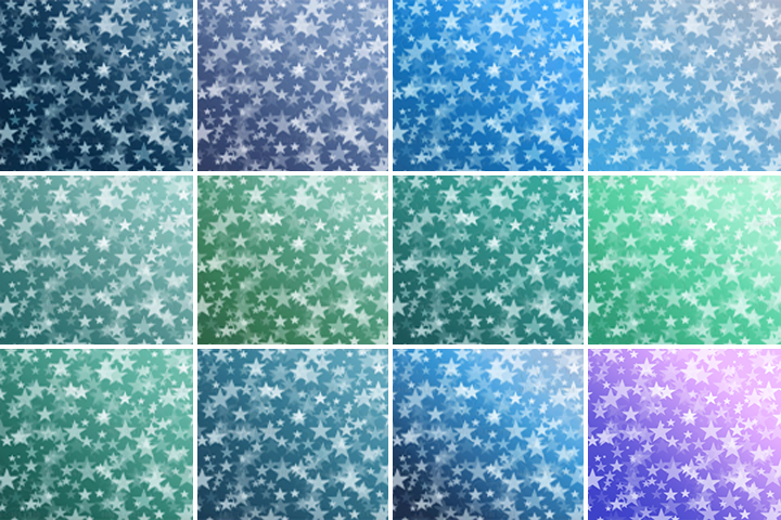 Sea Blue Stars Bokeh digital paper, Sea Blue colors Bokeh Overlay, Star Bokeh backgrounds, Instant Download, for Personal & Commercial Use example image 3