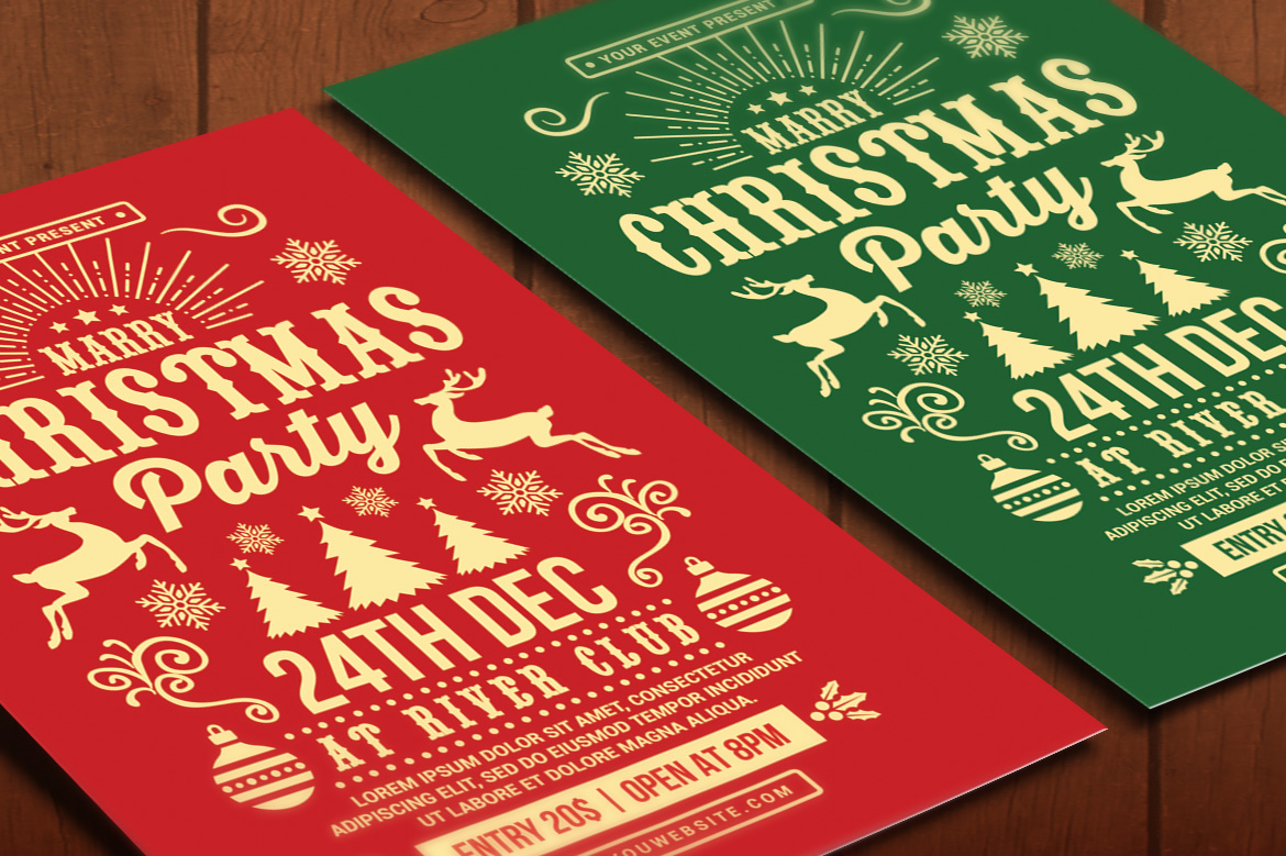 Christmas Party Flyer example image 4