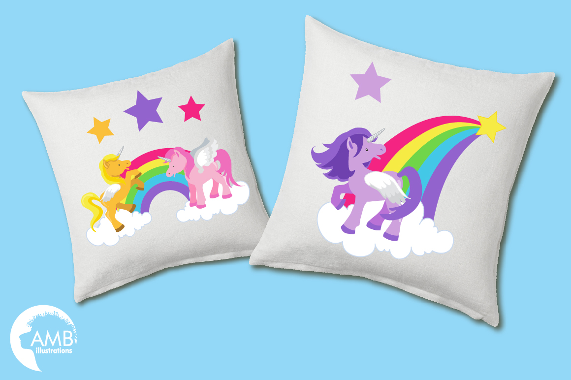 Magical Unicorns clipart, graphics and illustrations AMB-160 example image 3