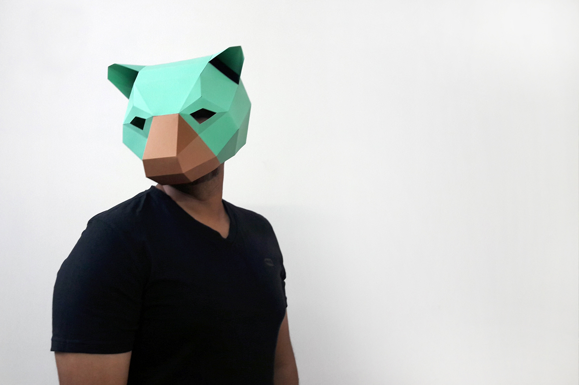 DIY Bear Mask - 3d papercraft example image 4