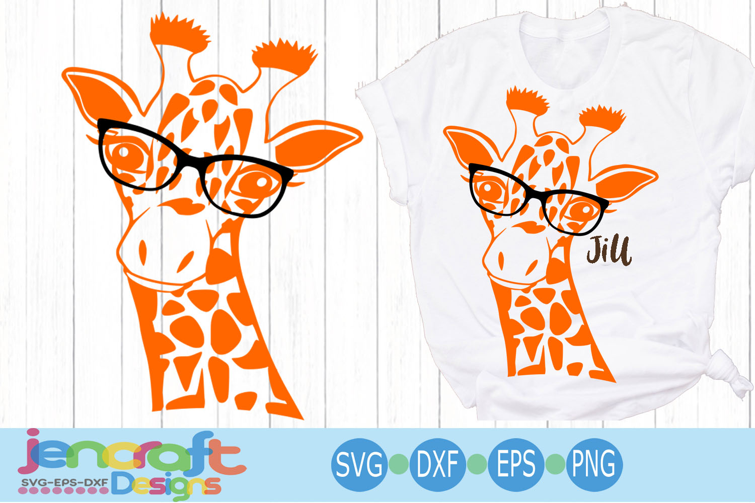 Giraffe in glasses svg, Cute Funny Kids Mother svg clip art example image 1