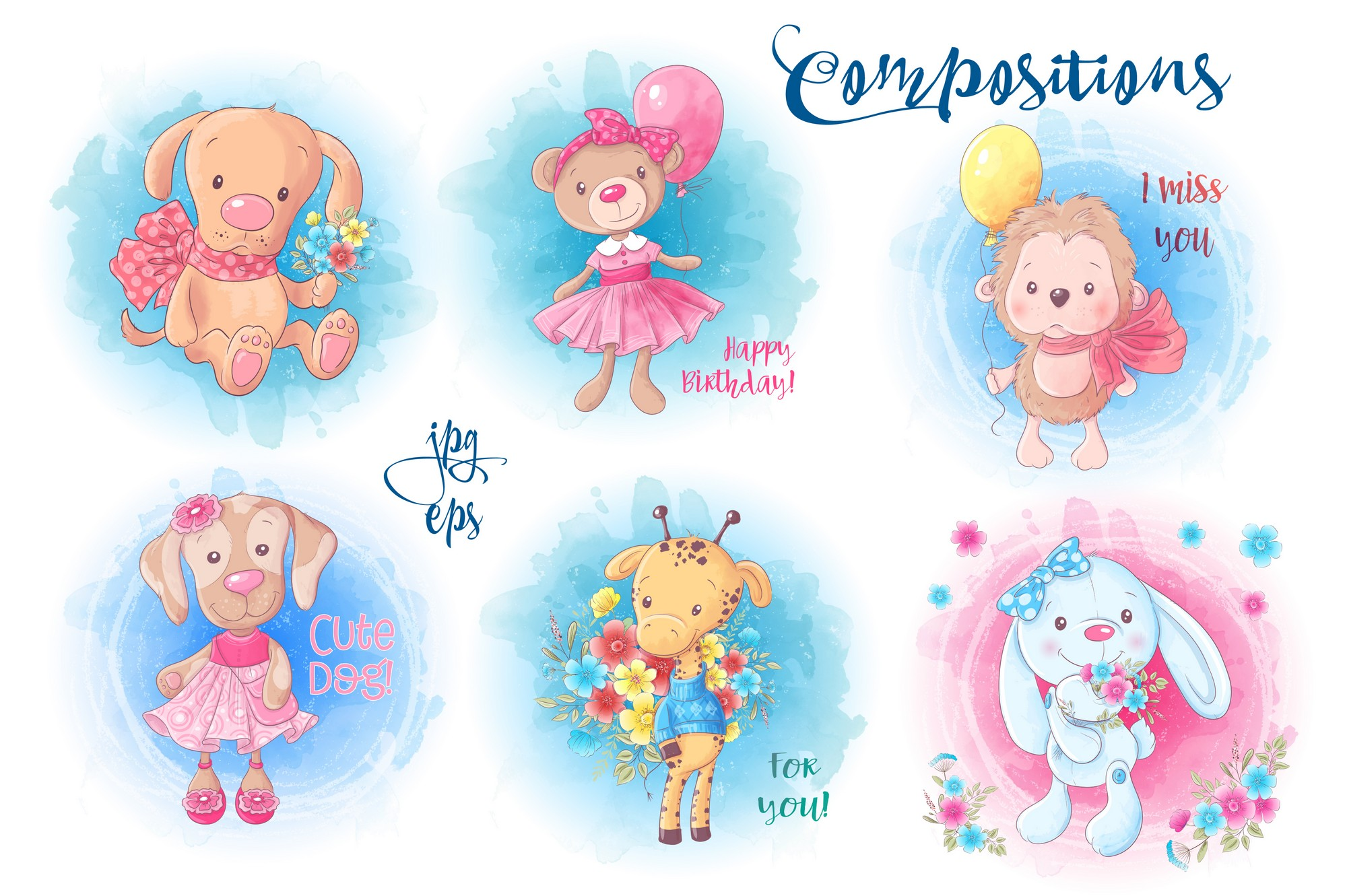 Cute Characters vector clip art example image 5