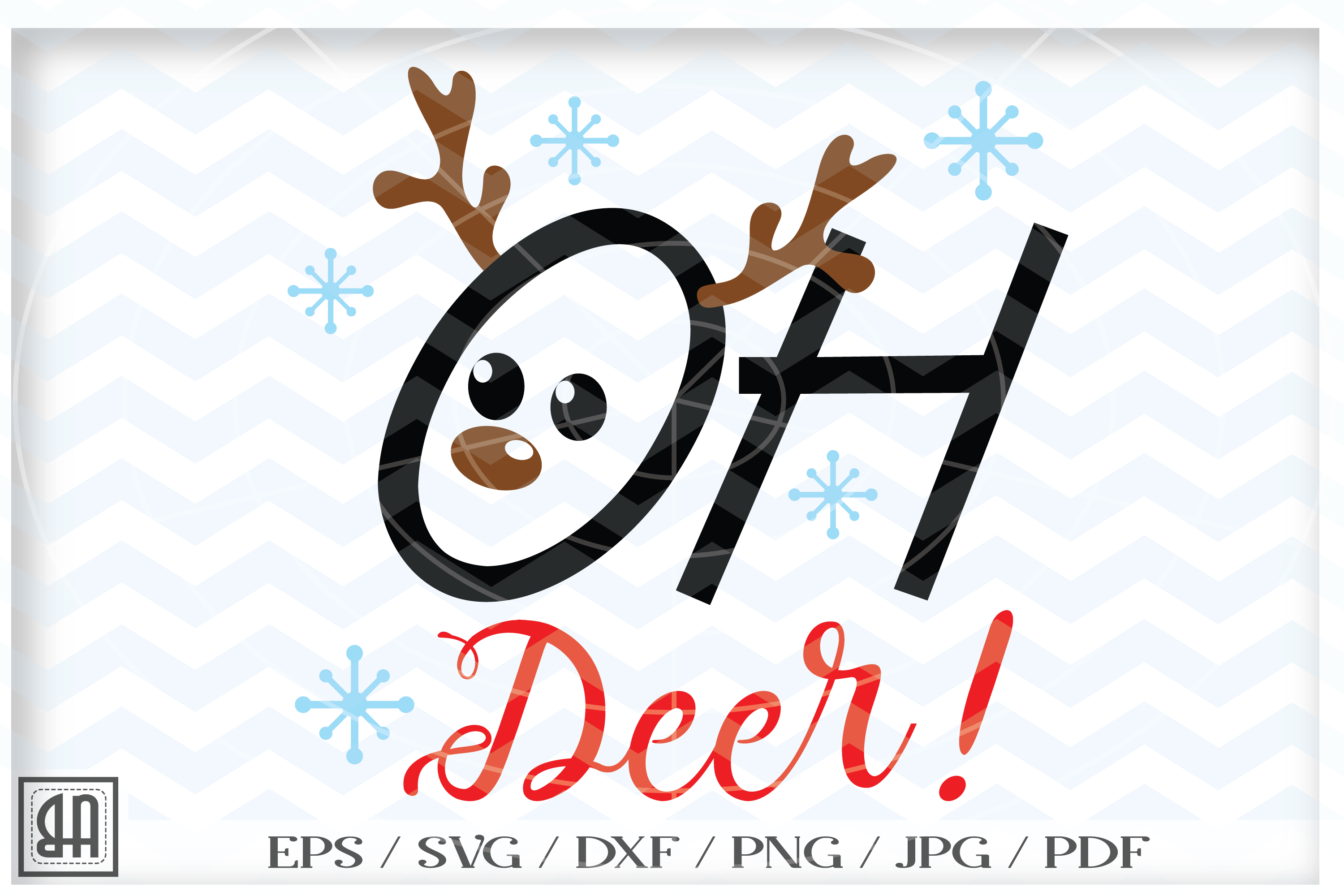 Christmas Deer Svg Oh Deer Xmass Svg Reindeer Cut Files 41915 Svgs Design Bundles