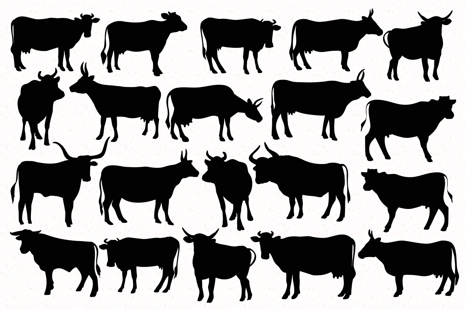 Silhouettes of cattle example image 2