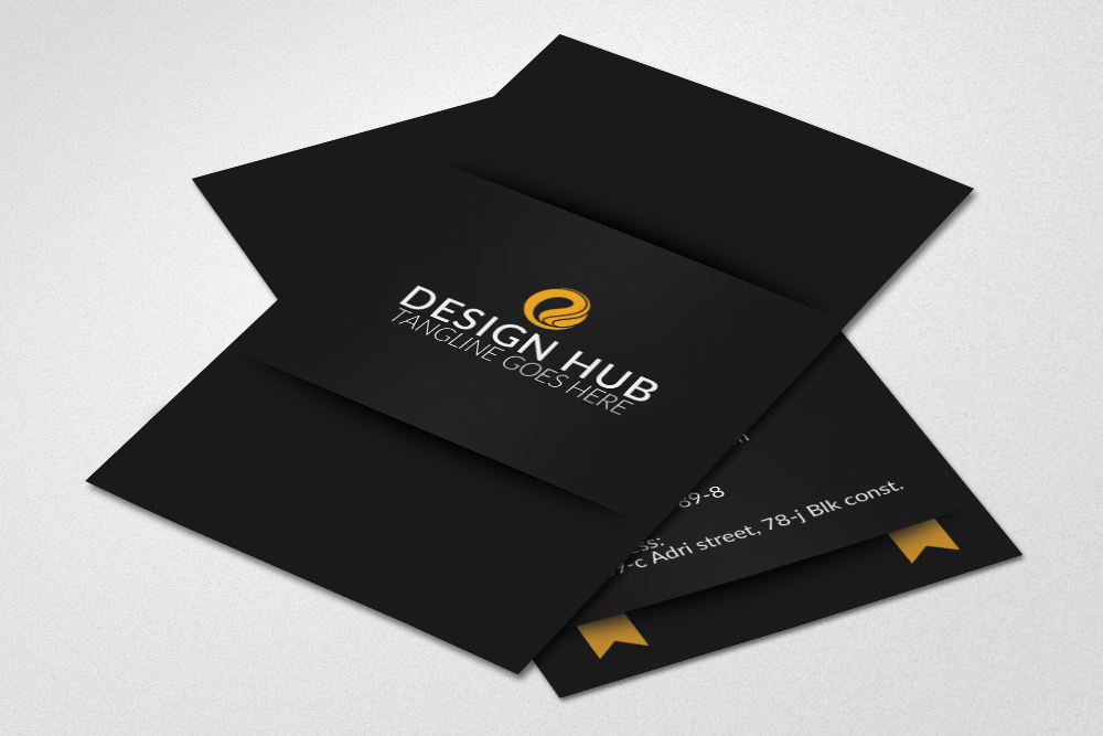 Vertical Ribbon Business Cards  example image 2