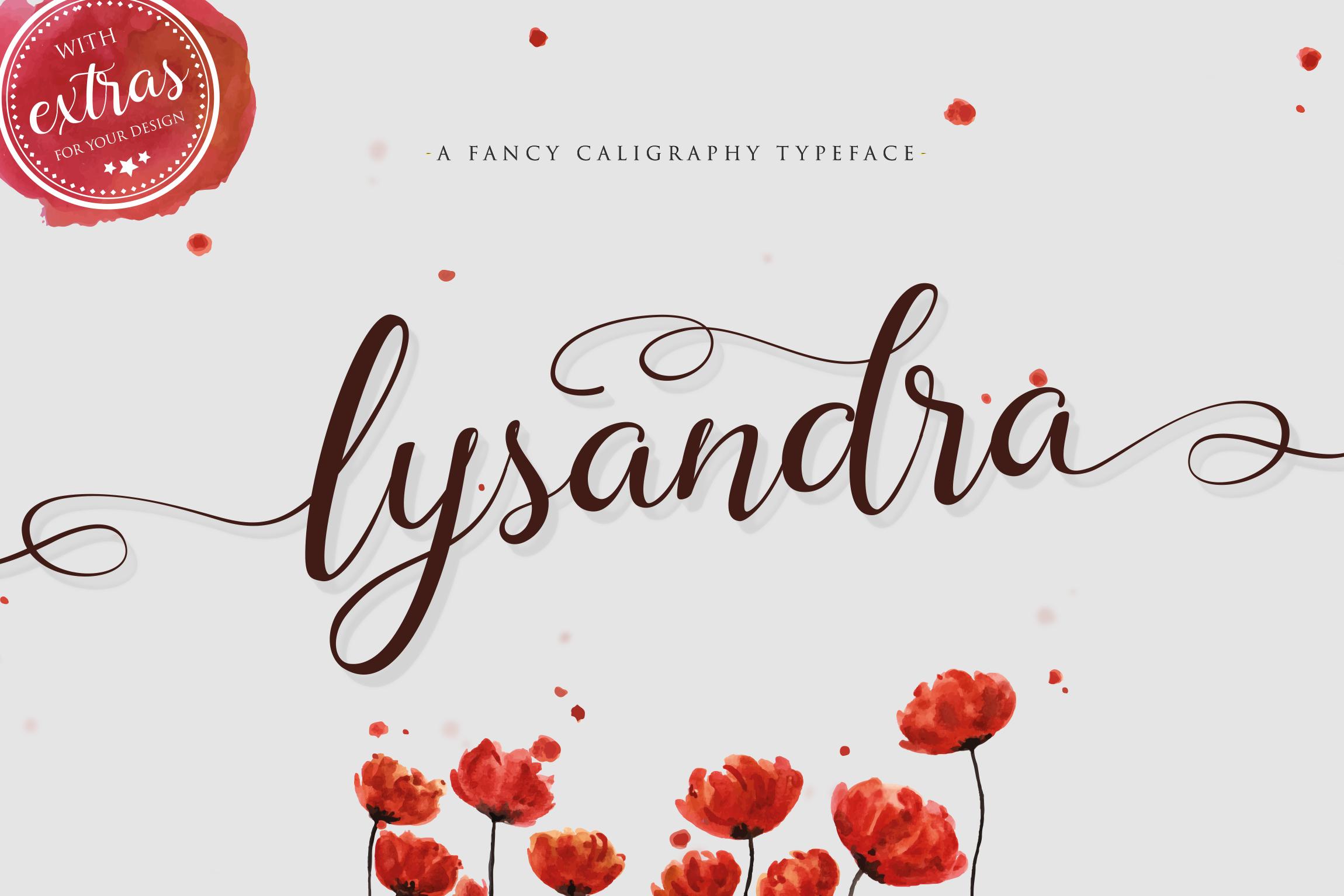 Lysandra Script Typeface example image 1