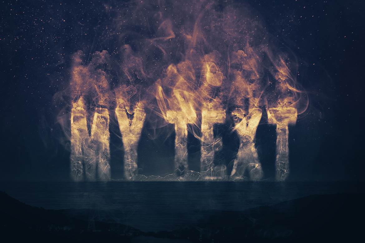 Smoke Logo Text Effect Template example image 5