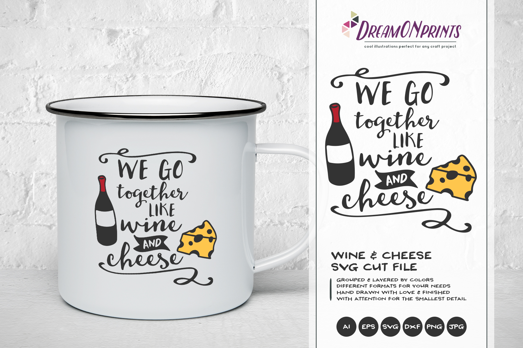 Wine and Cheese SVG BUNDLE - Bundle SVG Cut Files example image 8
