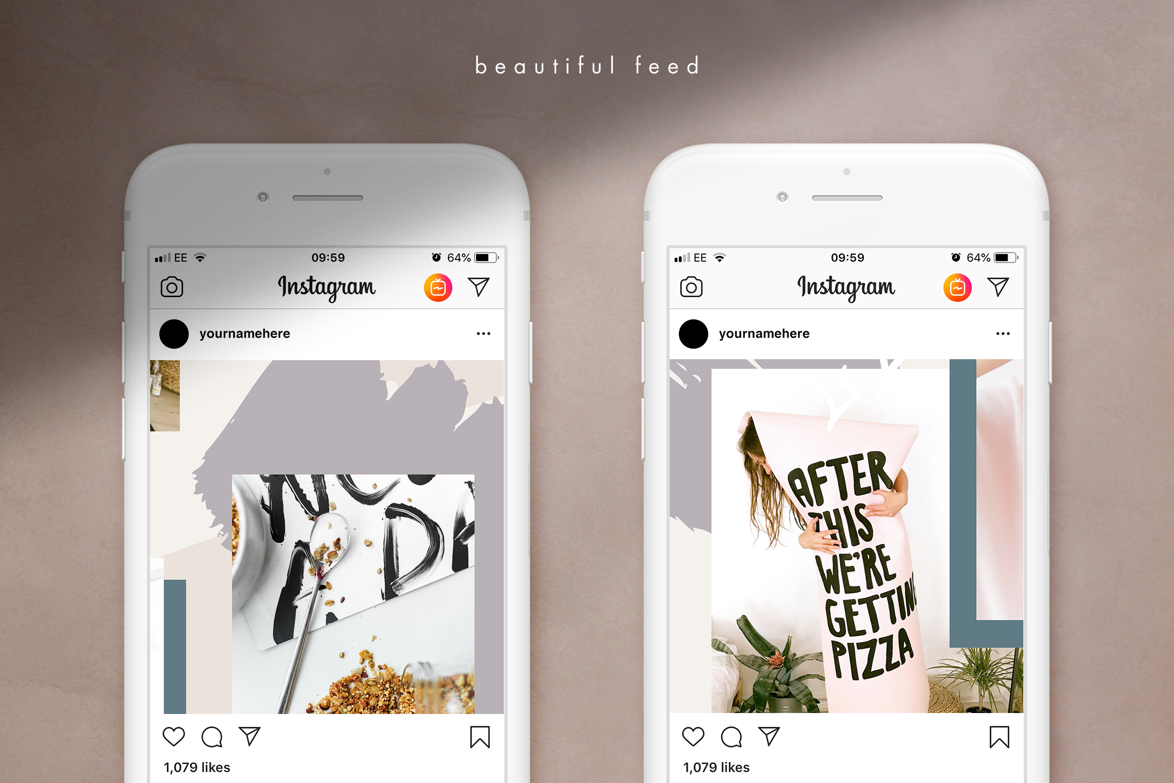 Instagram grid layout pack for Canva example image 5