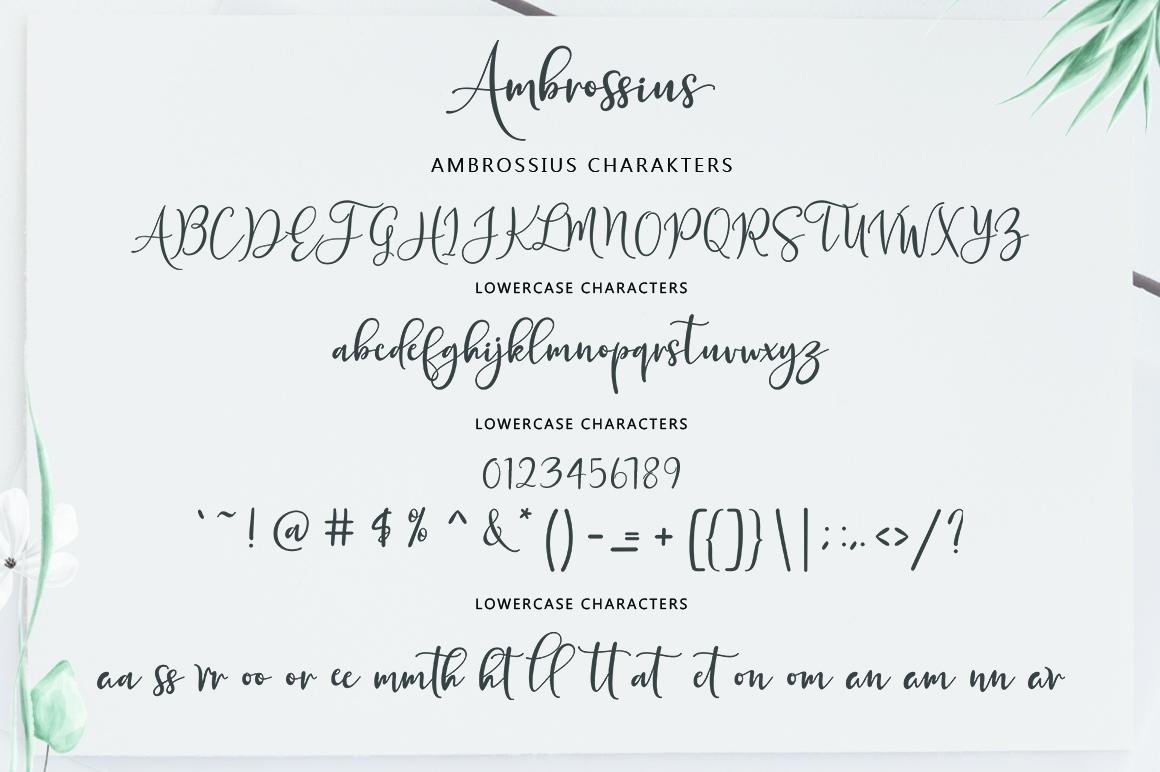 Ambrossius Script example image 7