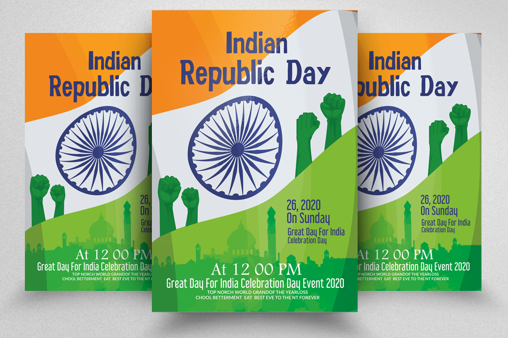 Indian Republic Day Celebration Flyer/Poster example image 1