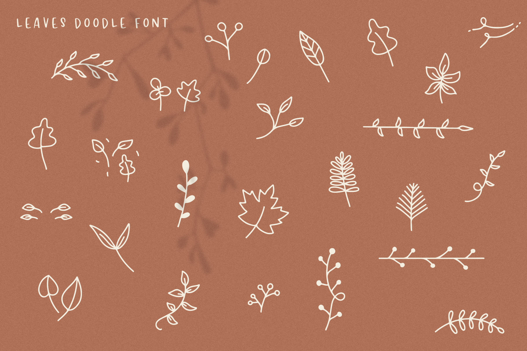 Falling Leaves - A Font Duo with Doodles example image 14