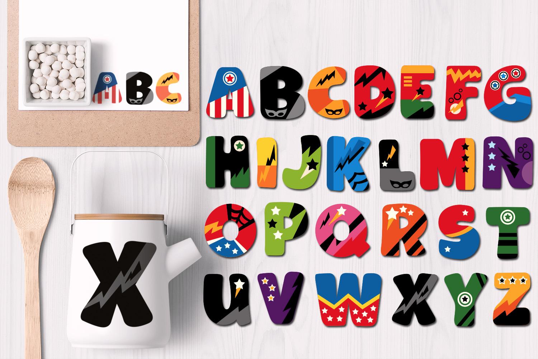 Superhero Alphabet and Punctuation - Graphics Bundle example image 9