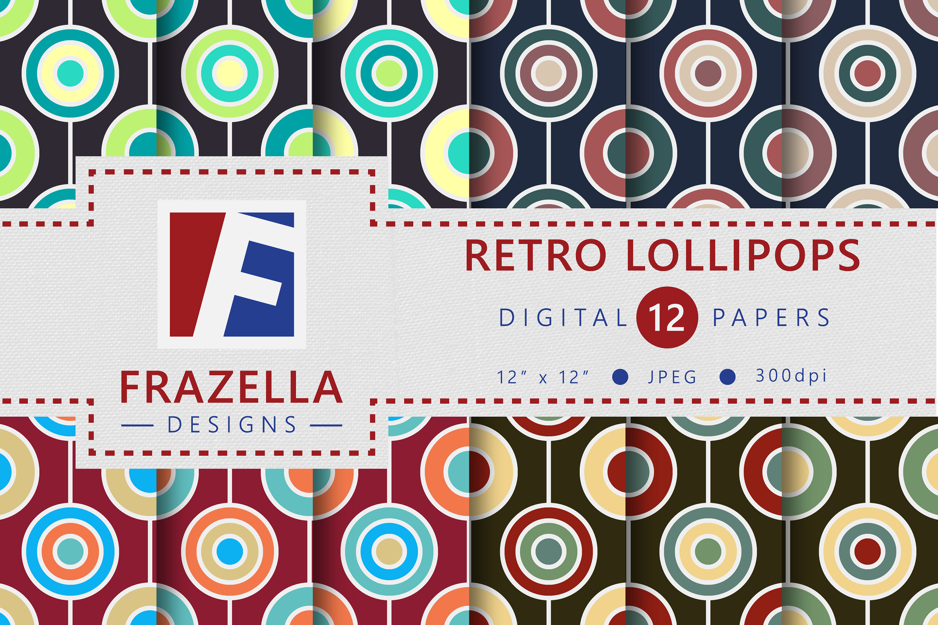 The ULTIMATE Digital Paper Collection Retro Edition Vol. 2. example image 8
