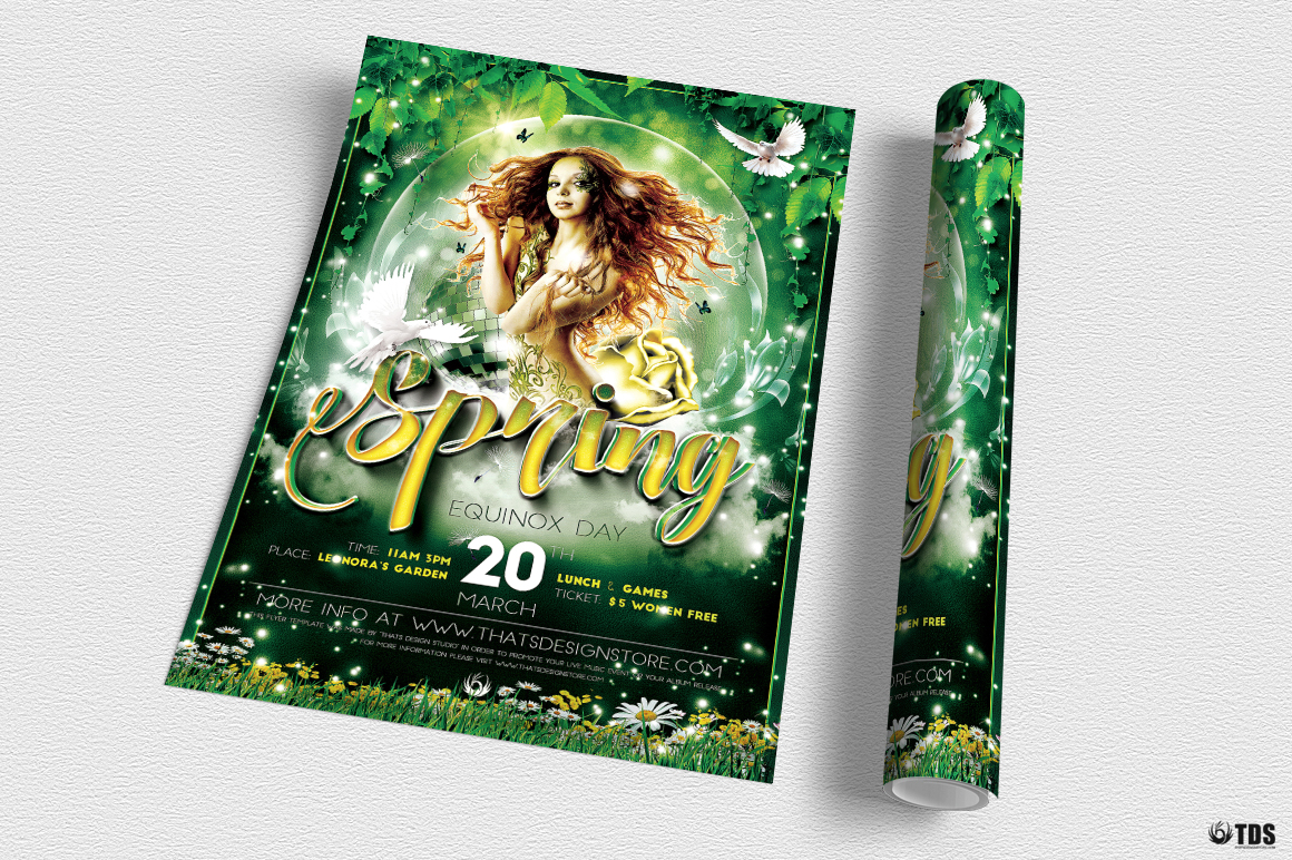 Spring Equinox Flyer Template V2 example image 3