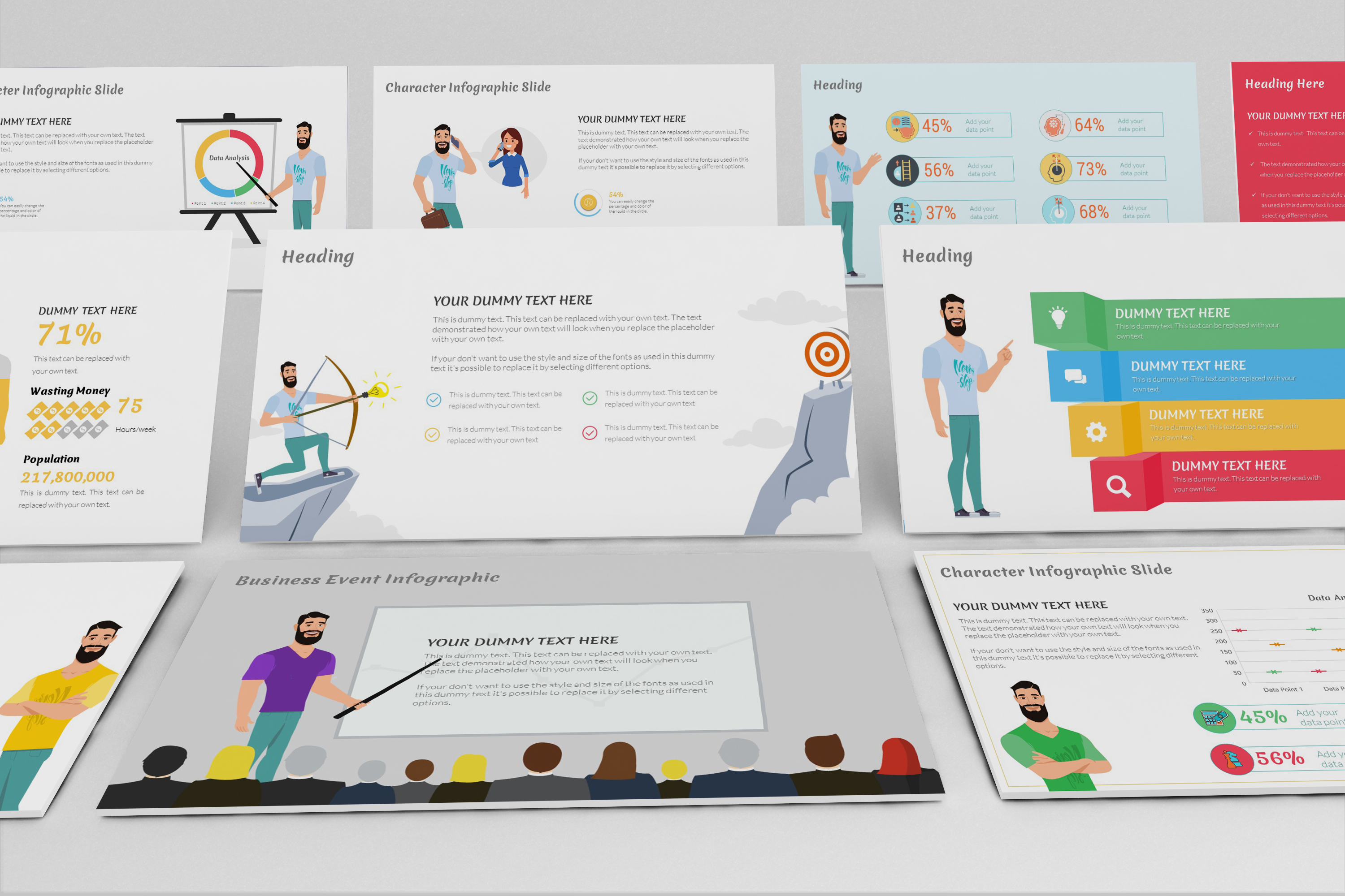 E-Trainer PowerPoint Template 1 example image 3
