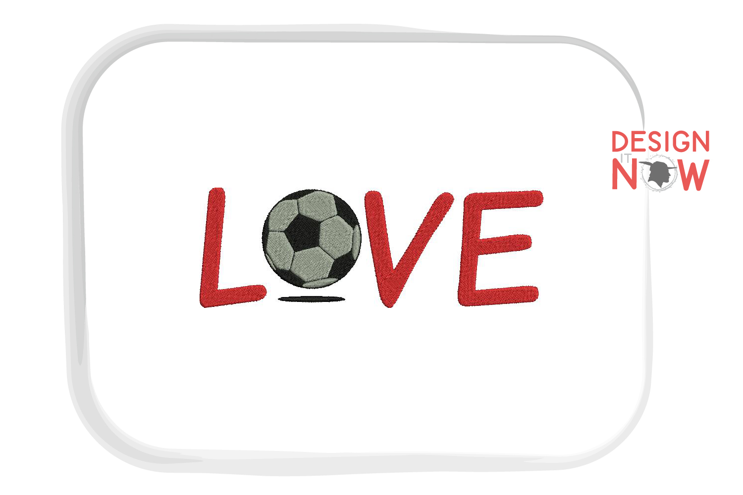 Soccer Ball Embroidery Design, Sport Embroidery Pattern example image 1