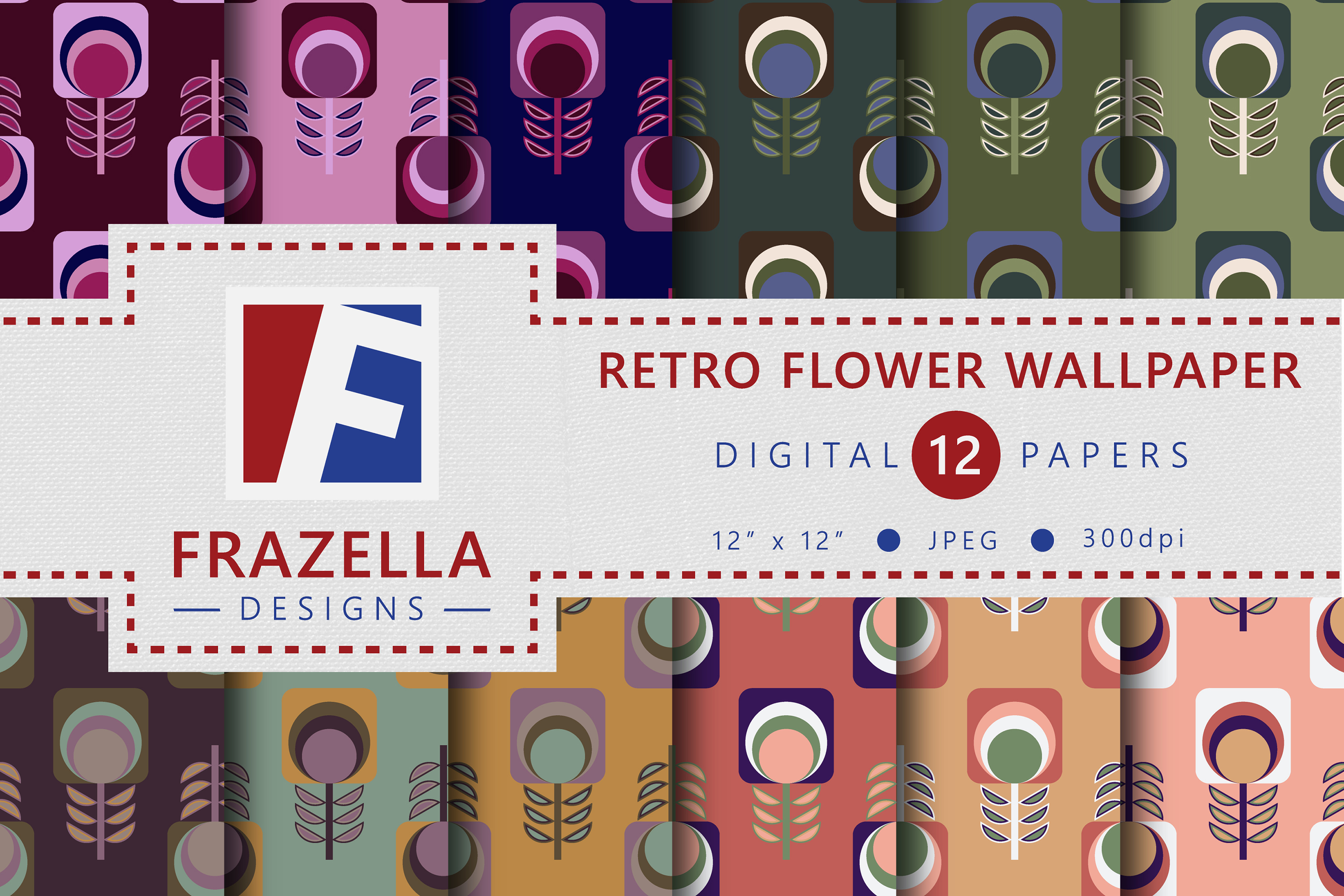 The ULTIMATE Digital Paper Collection Retro Edition Vol. 2. example image 4