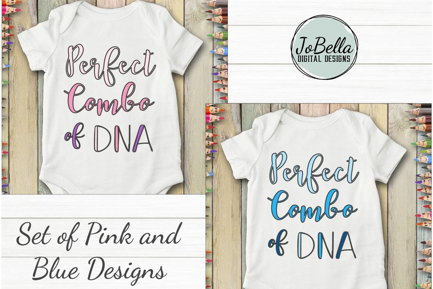 Baby or Kid Shirt SVG - Perfect Combo of DNA Girl and Boy example image 1