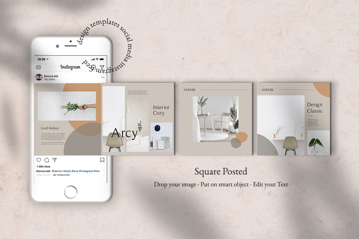 Interior Instagram Templates example image 2