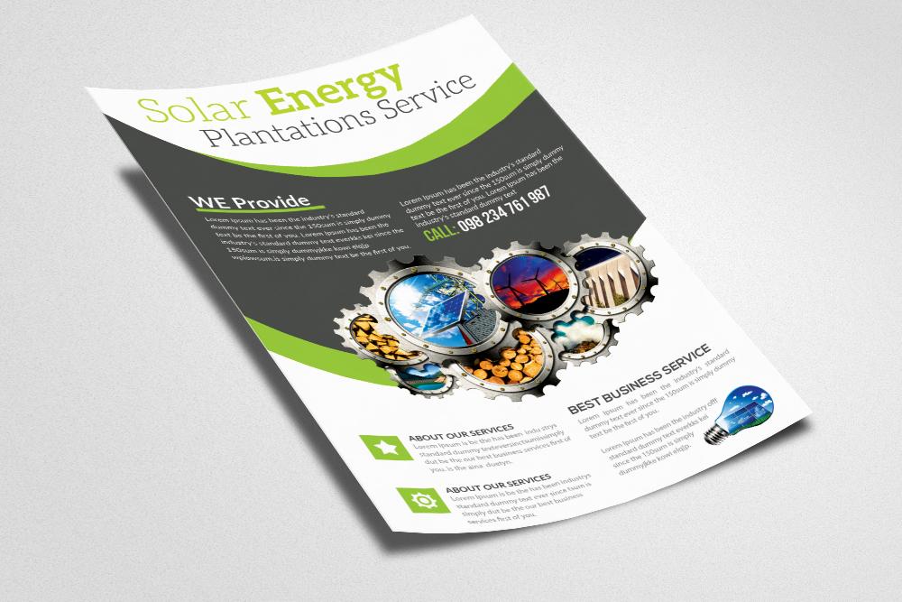 Renewable Energy Source - Go Green Flyer example image 3
