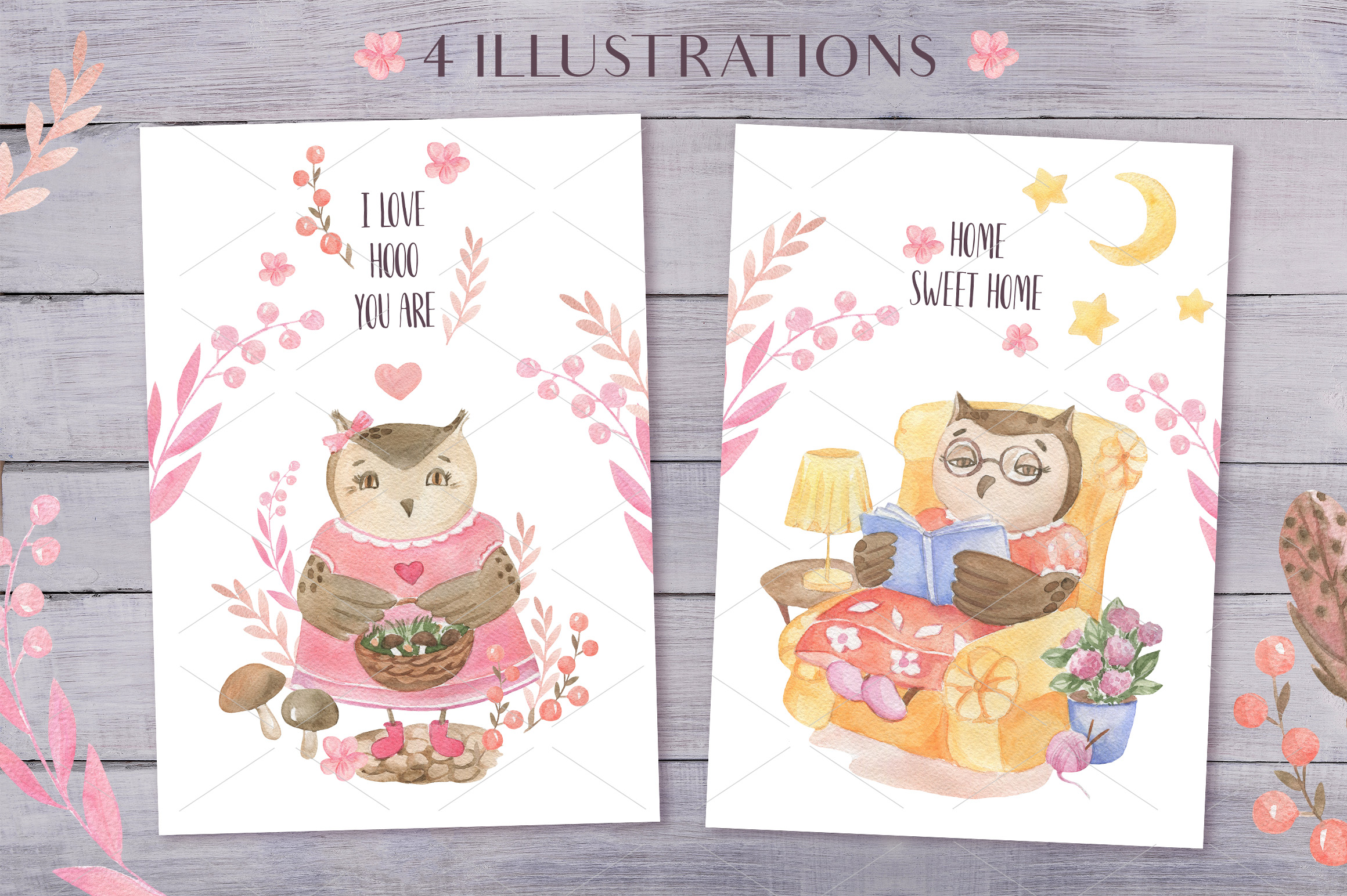 Cute Owls Collection example image 6