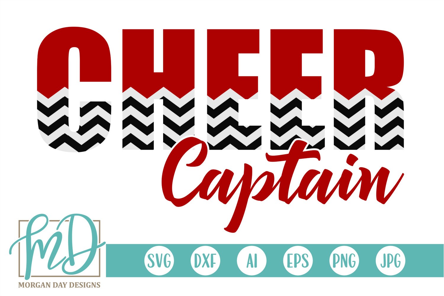 Cheer Captain - Cheerleader SVG, DXF, AI, EPS, PNG, JPEG example image 1