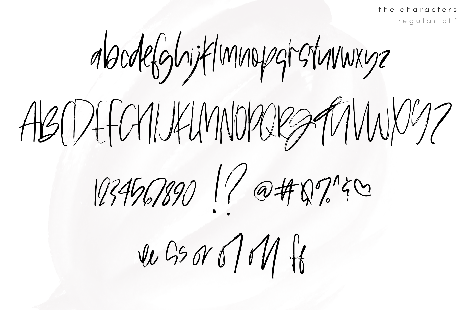 The Shaker - SVG & Regular OTF Brush Font example image 13