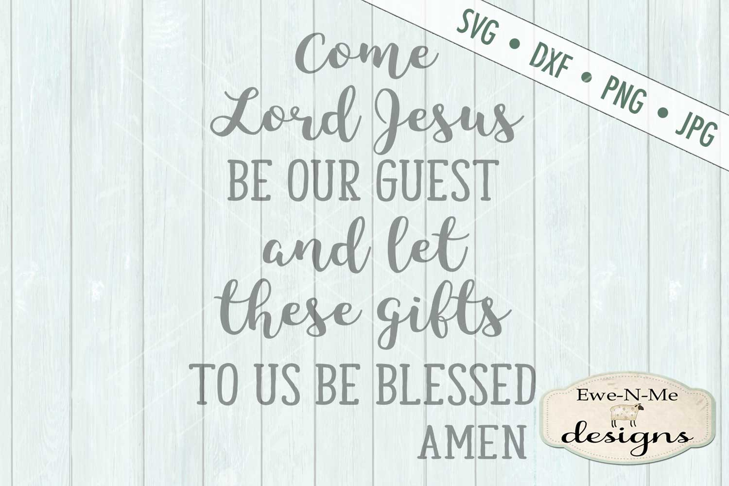 Table Prayer Christian SVG DXF Cut File example image 2