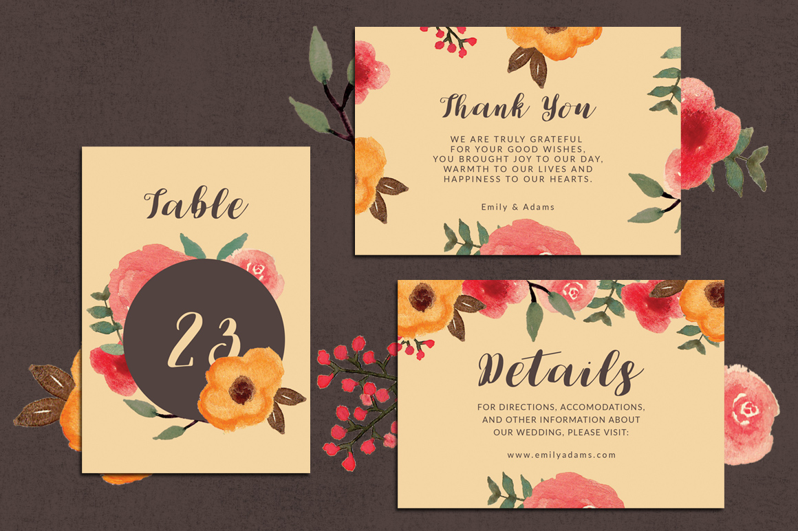 33% Off! Tropical Wedding Invitation Suite example image 3