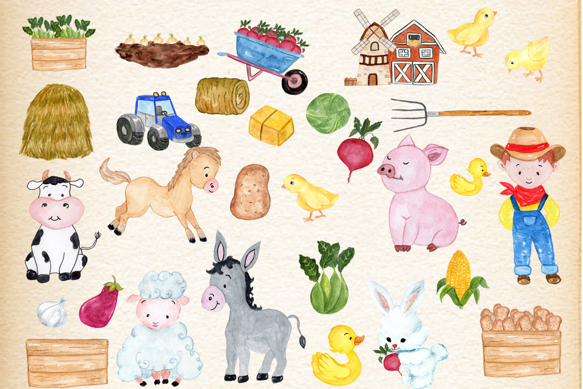 Farm Animals Clipart example image 2