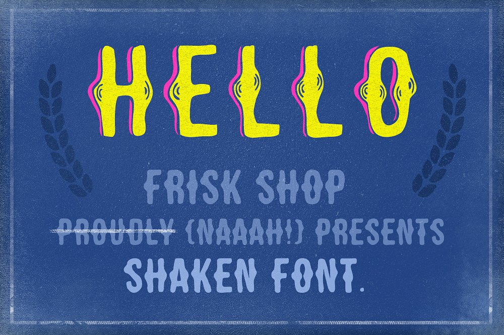 Shaken Font 5 Styles [30% off!] example image 3