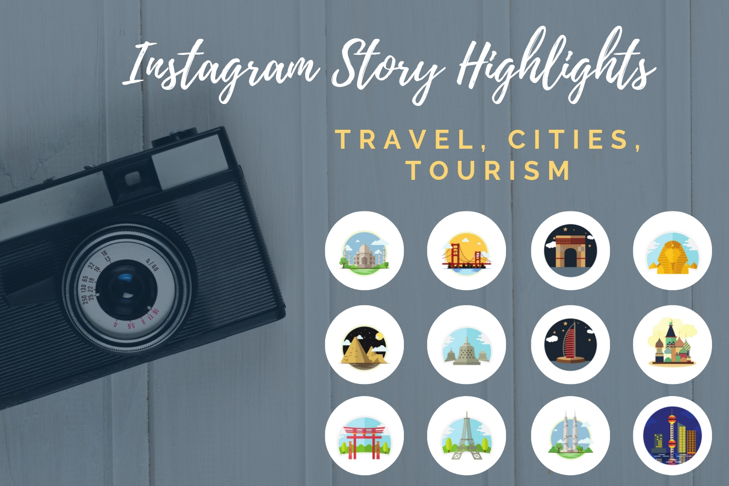 Instagram Story Highlights- Travel, Tourism, Cities example image 1