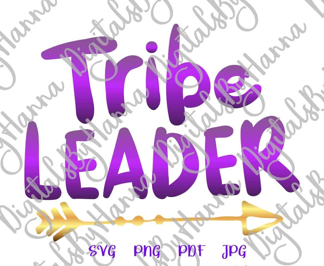 Tribe Leader Family Sign Parenting Print & Cut PNG SVG File example image 2