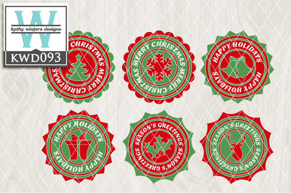 Christmas Cutting Files KWD093 example image 1