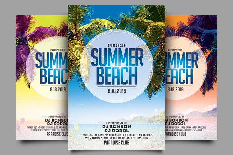 Summer Beach Flyer example image 2