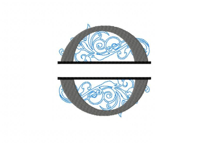 O Split Monogram Embroidery Font example image 3