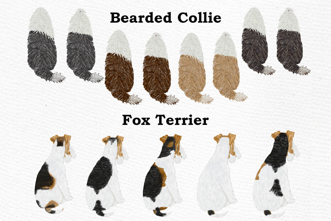 Dogs Clipart,Dog breeds Pet clipart,Watercolor dogs clipart example image 5