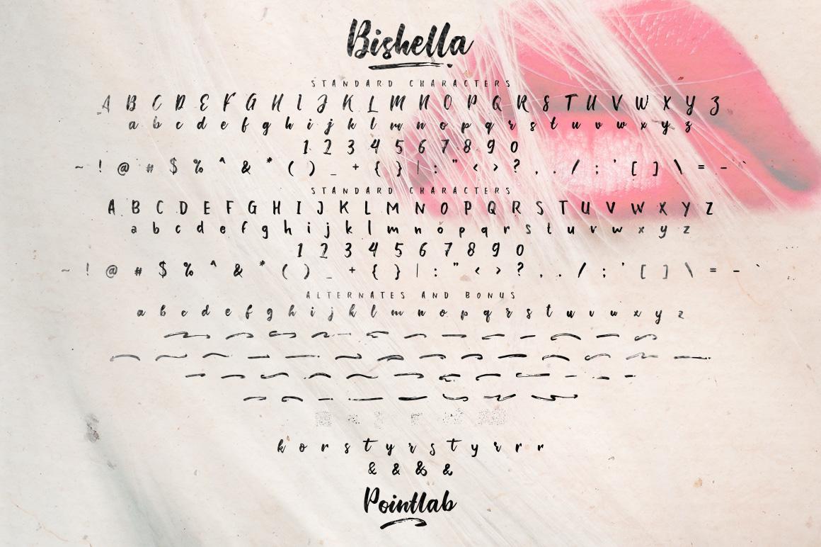 Bishella Script_Font Duo example image 10