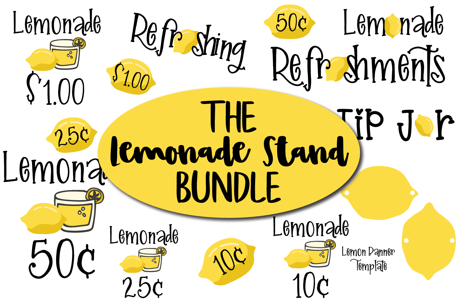 Lemonade Stand Bundle plus bonus posters example image 1