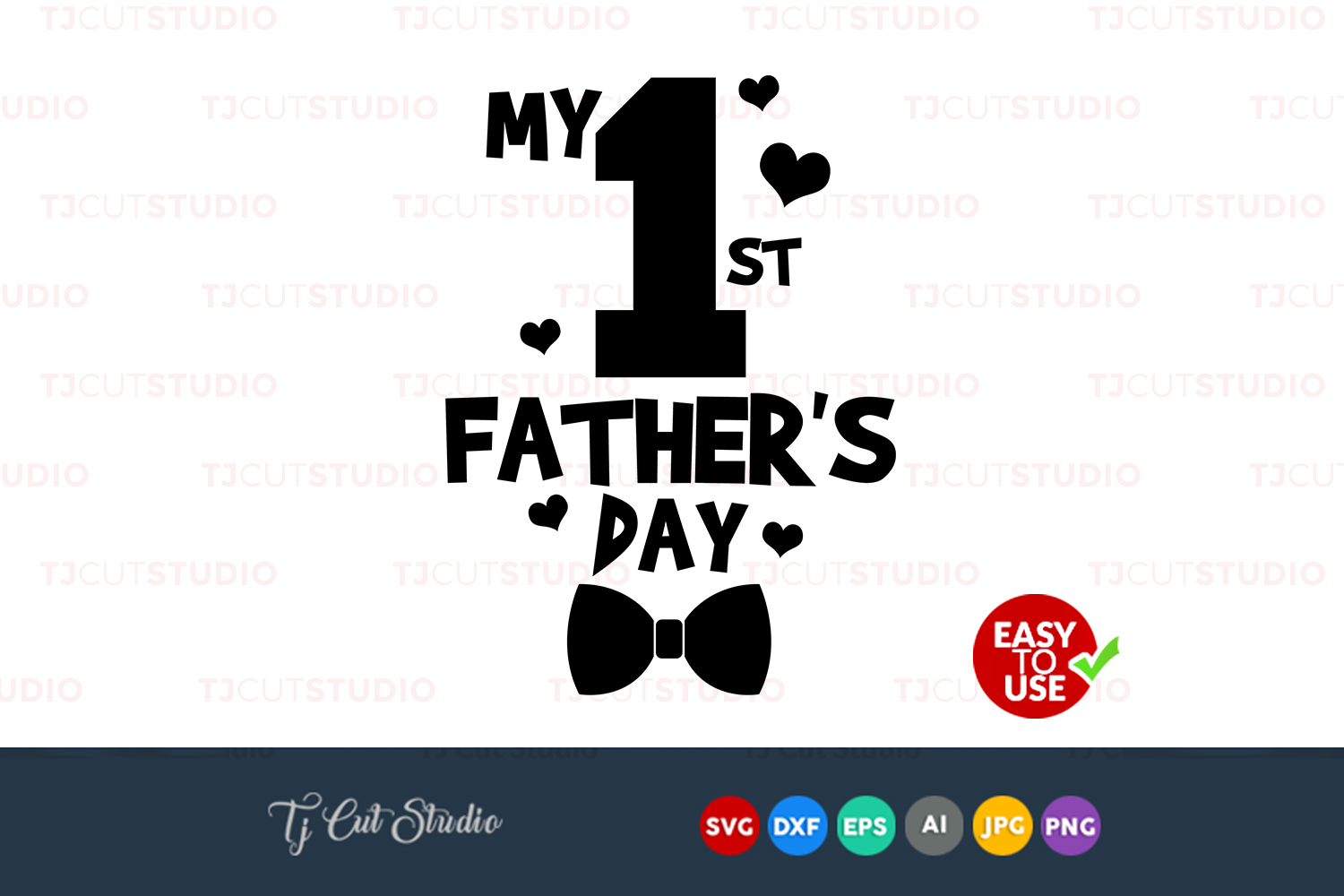 First my dad, my first fathers day, Files for Silhouette Cameo or Cricut, Commercial & Personal Use. example image 1