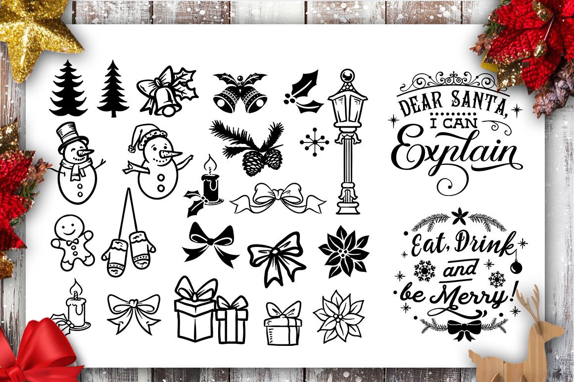Christmas Bundle SVG bundle 40 designs Winter SVG example image 4
