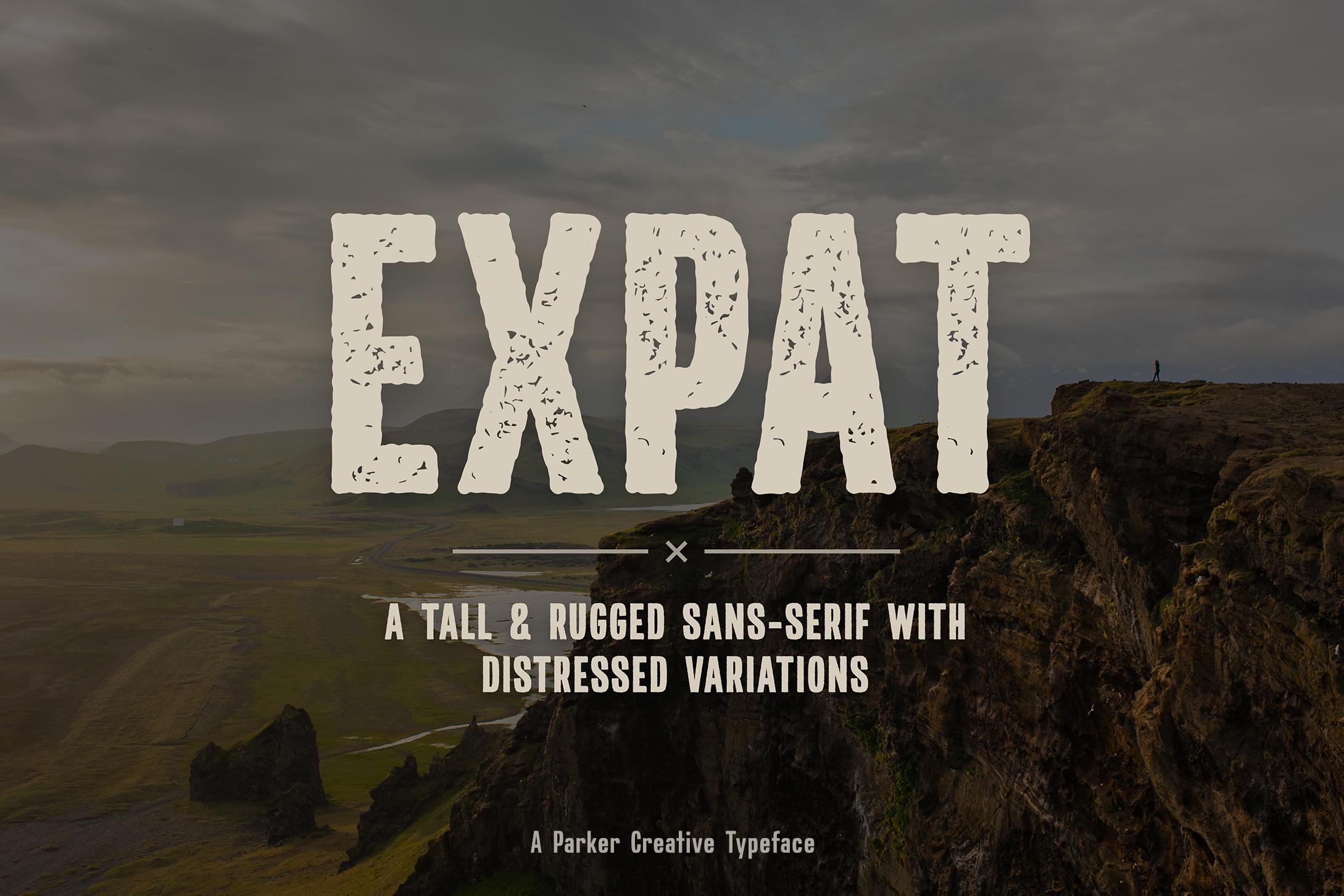 Expat - Tall & Rugged Sans-Serif example image 1
