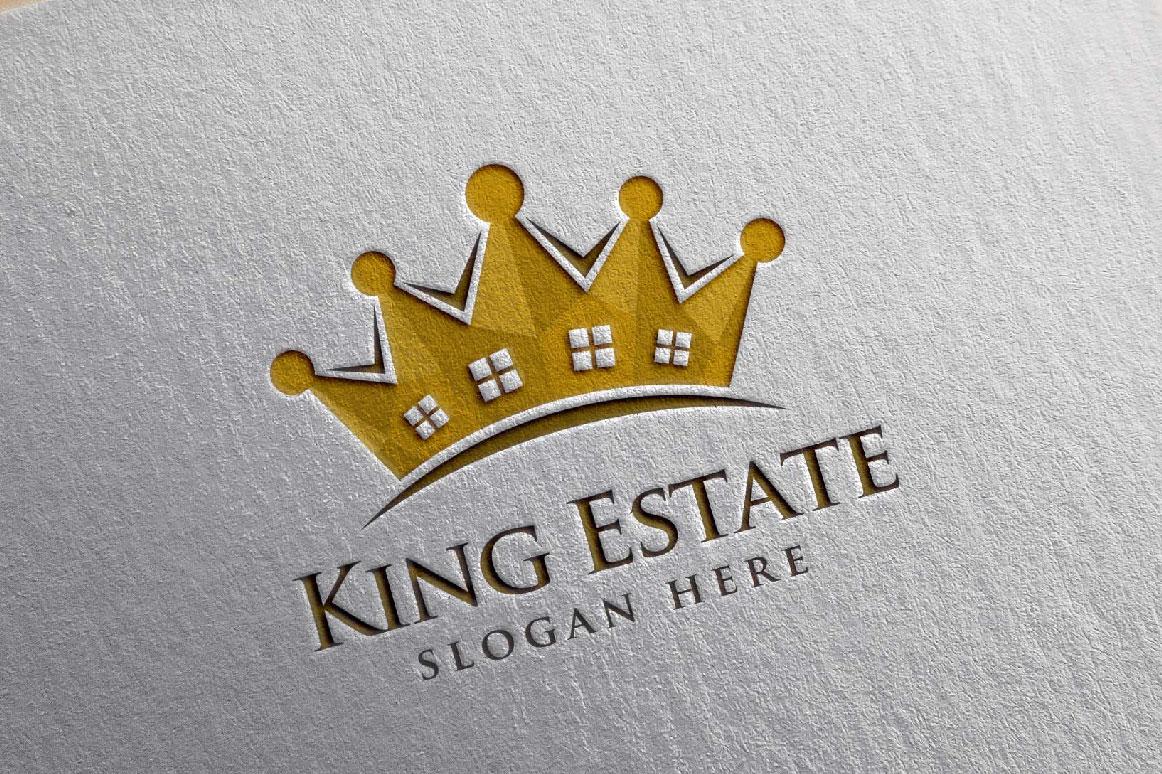 Real Estate Logo, King Estate Logo example image 4