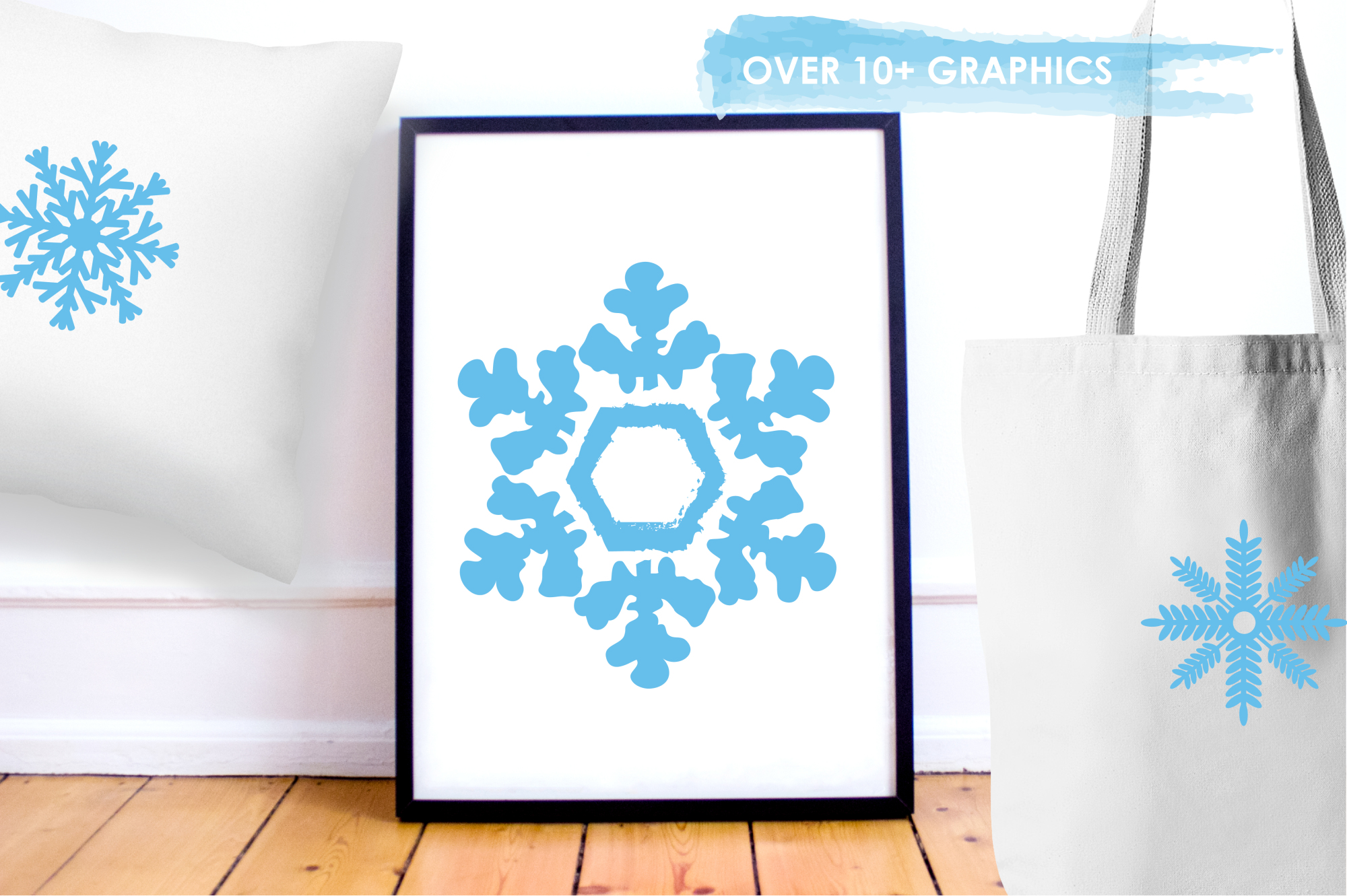 Snowflakes Icons graphics and illustrations example image 5