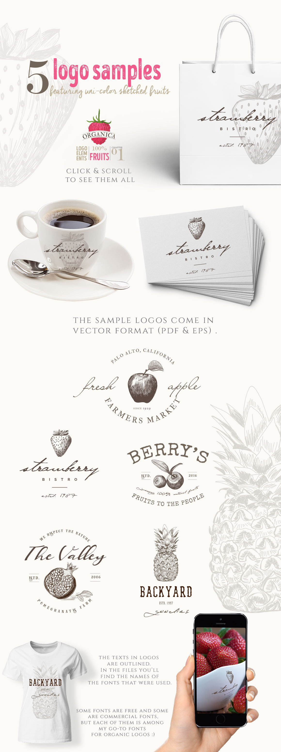 4 IN 1 ORGANIC LOGO ELEMENTS 60% OFF example image 11